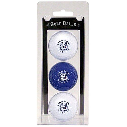 Team Golf NCAA Connecticut Huskies Regulation Size Golf Balls, 3 Pack, Full Color Durable Team Imprint (Connecticut Ncaa Ball Huskies)