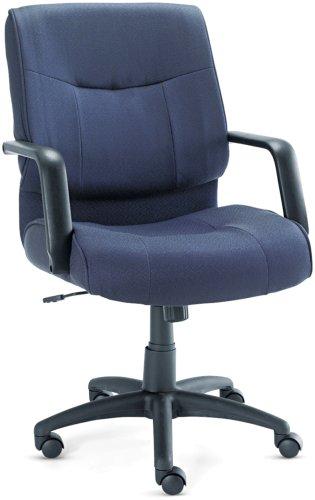 Alera ST42FA20B Stratus Series Mid-Back Swivel/Tilt Chair, Blue Fabric