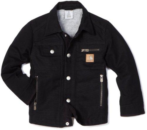 Carhartt Little Boys' Motor City Coat Sherpa Lined Jacket, Caviar Black, 6