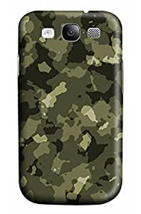 CaseandHome Gray Camouflage Design Hard Case for Samsung Galaxy I9300 S3