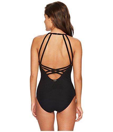- Jantzen Women's Mesh Solids Strappy Back One Piece Swimsuit, Black, 8