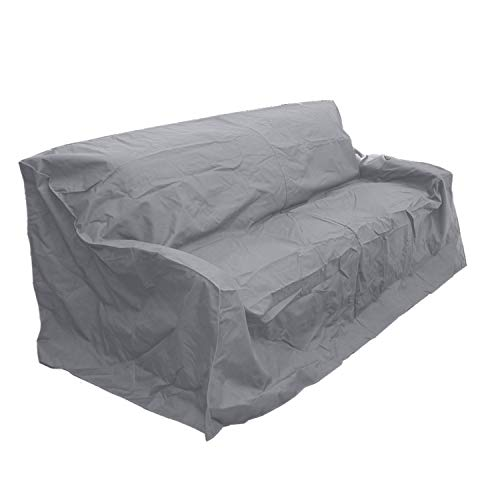 Premium Tight Weave Oversized Outdoor Sofa Cover - Protect Your Patio Furniture - Mold and Mildew Resistant in Grey (Home Furniture Outdoor Depot Covers)