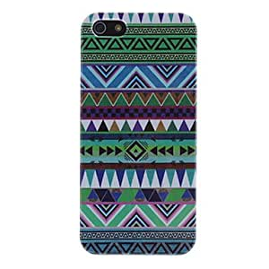 LZX Green Tones Triangles Hard Case for iPhone 5/5S