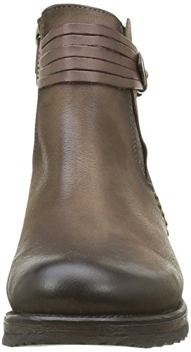 Ankle Booty Boots Lined and Women's Boots Taupe Calf Length Cold Brown Bunker FqROw8q