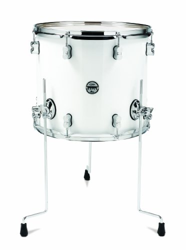 pacific-drums-pdcm1416ttpw-14-x-16-inches-floor-tom-with-chrome-hardware-pearlescent-white