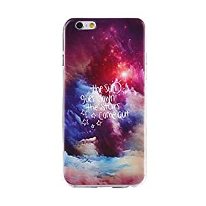 QYF Starry Sky Pattern TPU Soft Cover for iPhone 6
