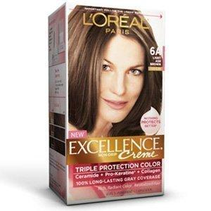 - L'Oreal Paris Excellence Triple Protection Color Cr�Me, Light Ash Brown 6A, 1 Count (Pack of 3)