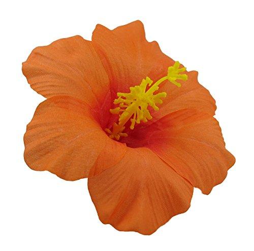 Bonitagirl Hawaiian Hibiscus Flower Hair Clip (Orange) ()