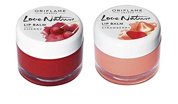 Oriflame Suecia Love Nature Lip Balm-Cherry & Strawberry ...