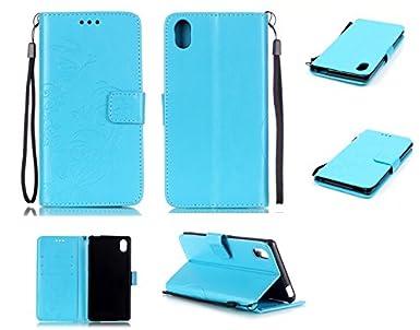 Amazon.com: Ooboom Sony Xperia M4 Aqua Case PU Leather ...