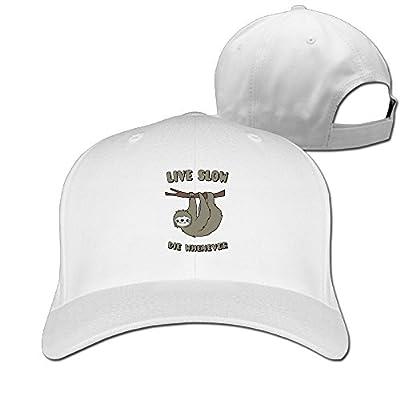 Cute Sloth Live Slow Die Whenever Unisex Flatbrim Caps Visor Hats - Sloth Caps