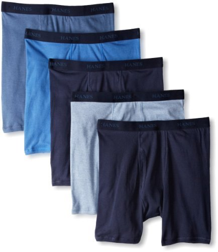 Hanes Mens Classics Assorted Dyed Boxer Briefs P5 (76925A) -ASSORTED -L