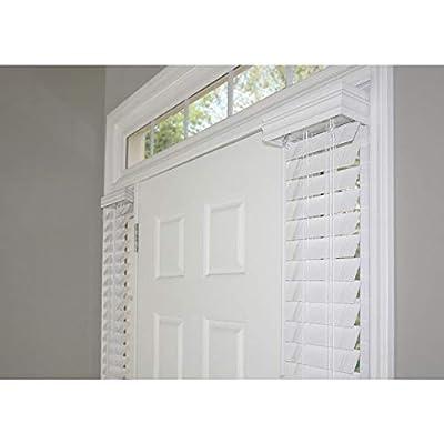 "MTBioinUS 2 White Faux Wood Sidelight Blinds Room Darkening 9"" W x 72"" H"