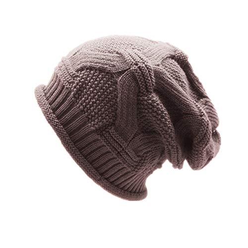 Dragon Striped Beanie - Hat BOOMJIU Winter Warm Wool Cap Multi-Layer Striped Knit Outdoor Earmuffs Cap