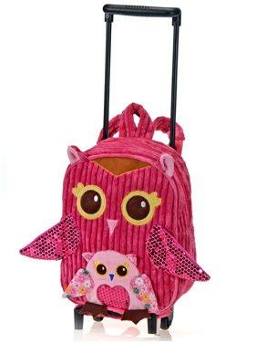 "Girly Pink Owl Trolley 11"" by Fiesta"
