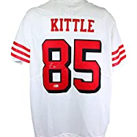 $305 » George Kittle Signed San Francisco 49ers White NFL Nike Authentic Jersey- Beckett W Hologram Silver