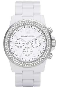 Michael Kors MK5398 - Reloj para mujeres, correa de plástico color blanco