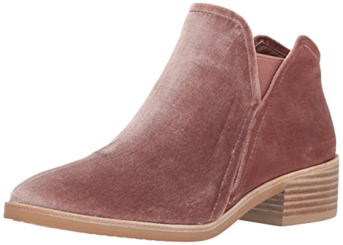 Dolce Vita Women's TAY Ankle Boot, Rose Velvet, 6 Medium US