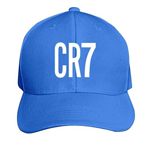 Hittings Vintage CRISTIANO RONALDO CR7 Adult Nylon Adjustable Mesh Hat Mesh Hat Ash One Size Fits Most Black