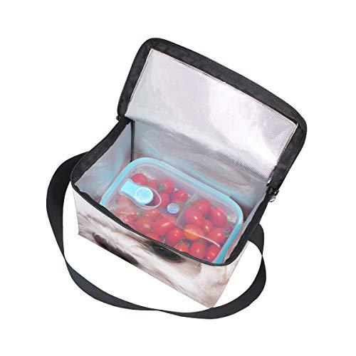 Cooler Christmas Shoulder Lunchbox White Hat Lunch Dog Picnic for Strap Maltese in Bag aXwxvq0f