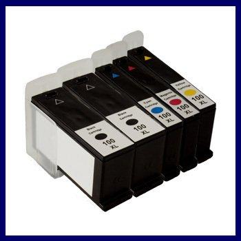 5 Combo PacKs Ink Cartridge for Lexmark 100XL Lex #100XL Lex#100XL Intuition S505