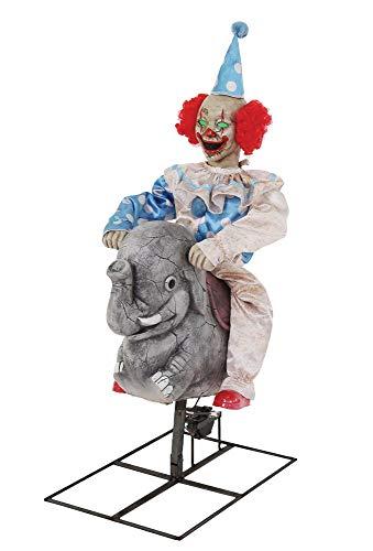 Seasonal Visions Animated Rocking Elephant with Clown