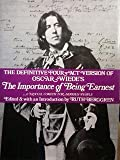 Oscar Wilde's The Importance of Being Ernest : A Trivial Comedy for Serious People, Wilde, Oscar, 0814909302