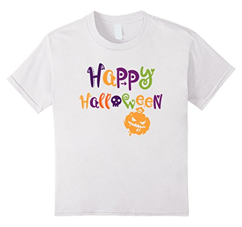 Fantastic 4 White Costume (Kids Happy Halloween - Smiley Face Scary Pumpkin - Easy Costume 4 White)