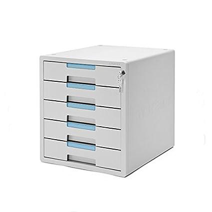 Gentil 5 Drawers System 2 Key File Cabinet Office Home Desk Supplies Lockable  Function 1205K