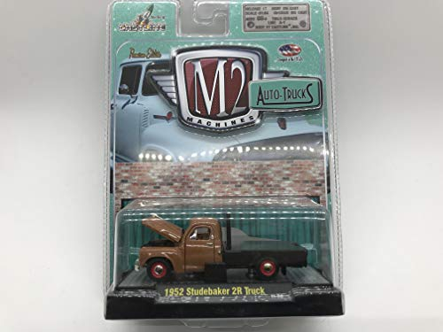(M2 Machines Auto-Trucks 1952 Studbaker 2R Truck 1/64 11-08 Brown Details Like NO Other! Over 42 Parts)