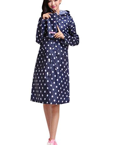 Manteau Respirant Veste Femme Bleu 2 Pluie Capuche Imperméable Foncé Léger À f1g0wdq