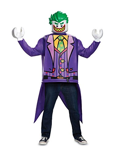 Disguise Men's Joker Classic Adult Costume, Purple, One Size ()