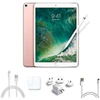 2017 New IPad Pro Bundle (4 Items): Apple 10.5 inch iPad Pro with Wi-Fi 64 GB Rose Gold, Apple Pencil, Mytrix USB Apple Lightning Cable and All-in-One Travel USB Charger