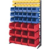 Single Sided 16-Rail Hanging System Plastic Bins Bin Color: Black