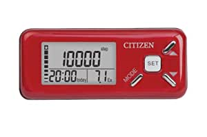 Citizen TW-610R Deluxe Pedometer, Red