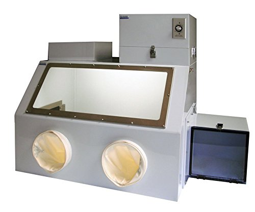 Laboratory Filtered Glove Boxes with HEPA Filter, Airlock, Gloves; 35 x 24 x 25 in. - Box Glove Housing Lock