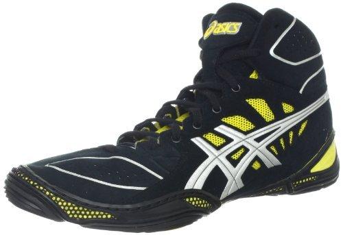Asics Men's Dan Gable Ultimate 3 Wrestling Shoe,Black/Sil...
