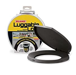 Reliance Products 9881-03 Luggable Loo Snap-on Toilet Seat With Lid For 5-gallon Bucket