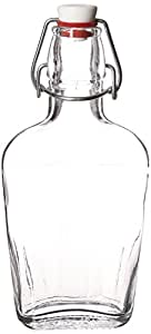 Bormioli Rocco Pocket Flask, 8.5 oz, Clear