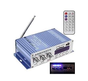 Amplificador de potencia de pantalla digital con tarjeta USB ...