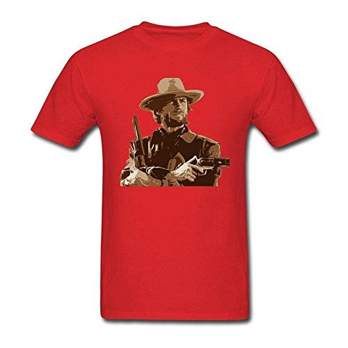 Tommery Mens Clint Eastwood Short Cotton T Shirt