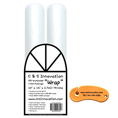 All-Purpose Wrap 2-Roll Package with Safety Cutter (10'x15' 2-Roll Package) -