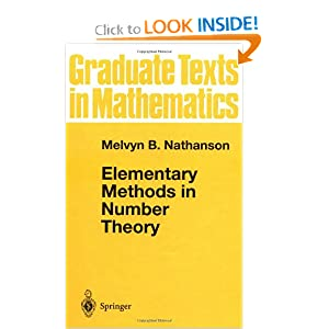Elementary Methods in Number Theory Melvyn B. Nathanson
