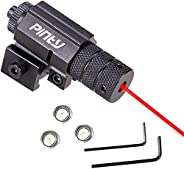 Pinty Compact Tactical Red Rail Laser Sight with Picatinny Mount Alan Wrenches for Hunting - Easy & Br