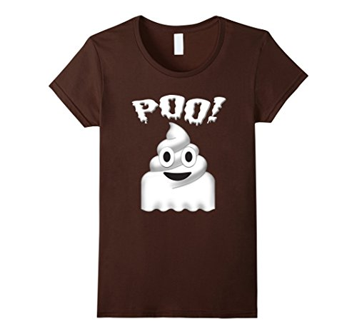 Womens POO! Halloween Poop Ghost Emoji Costume T-shirt Large (Pop Culture Female Halloween Costumes)
