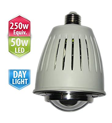 COOLWEST 250W Metal Halide MH Replacement, 50-watts Daylight LED Bulb,E27 4300 Lumens,Easy for Factory/Workshop Lights LED Retrofit
