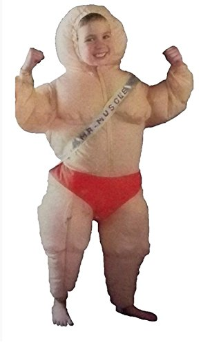 Inflatable Muscle Boy Child Costume