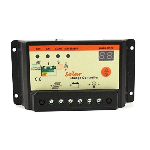 DEALPEAK 30A MPPT Solar Panel Battery Charge Controller 12/24V 4-LED Indicator Battery Protection