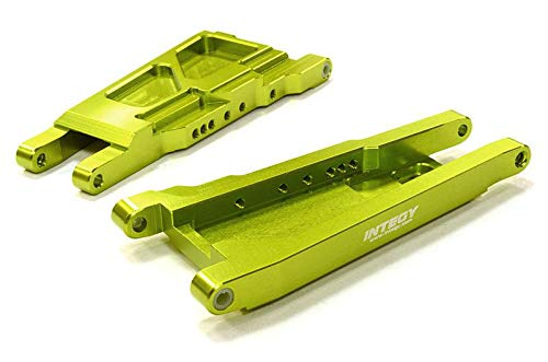 Integy RC Model Hop-ups C26521GREEN Billet Machined Lower Suspension Arm (2) for Traxxas 1/10 Slash 4X4 LCG ()
