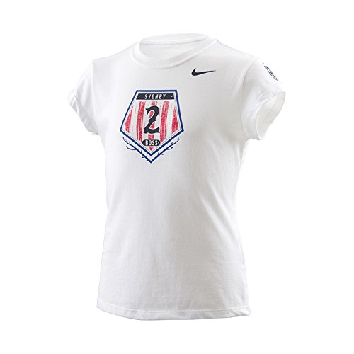 Sydney 'Boss' Leroux U.S. Women's Soccer National Team USWNT Nike Blue Hero T-Shirt - Girls X-Large (Us Womens National Team)